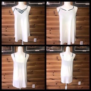 Tops - NEW NEVER WORN ivory reversible cami